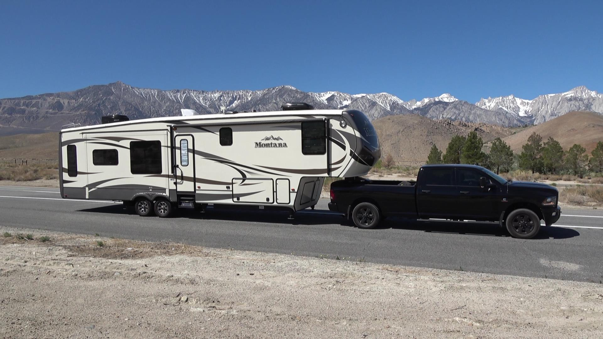California Highway 395 RV Travel Route